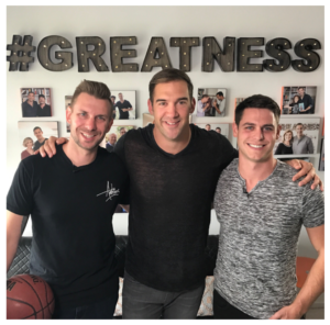 greg rollett, lewis howes, brandon t. adams at the school of greatness in LA