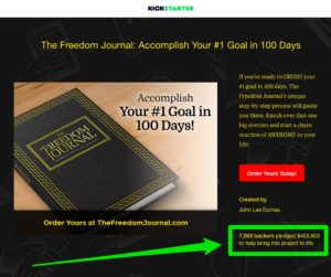 freedom journal kickstarter