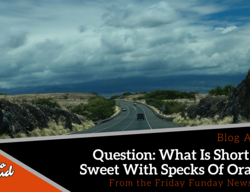 Friday Funday 24: Question: What Is Short And Sweet With Specks Of Orange?